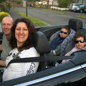 Me Driving the Family!!